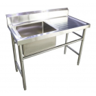FRESH SINGLE BOWL SINK TABLE (LEFT) FST1200-1L