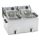 ROLLER GRILL Electric Counter Top Twin Tank Fryer With Tap FD-80DR