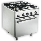 MSM 4 Open Burner Range With Oven BTU (84,000/27,000 Oven ) MSM-4-OV
