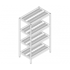 Custom Stainless Steel 4 Tier Slatted Rack