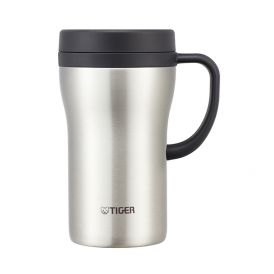 TIGER 0.36/0.48L Stainless Steel Desk Mug (Pink/ Brown/ Clear Stainless) CWN-A036/48
