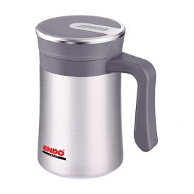ENDO 500ml Anti-Bac Double S/Steel Vacuumised Desk Mug CX+1008