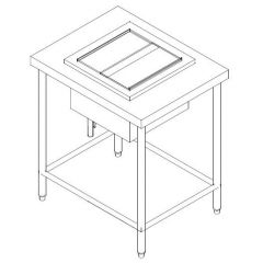 SS ICE BIN CW 2 DIVIDUAL COMPARTMENT