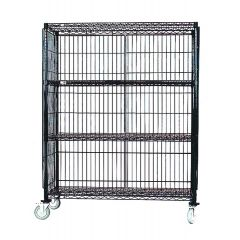 MAXEL Mobile Poly Brite 3 Tier Rack With Side & Back Panels Without Door SEC2148EZ