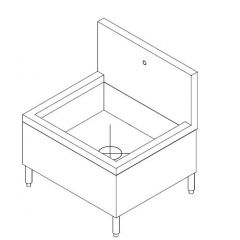 SS JANITOR STORAGE CABINET WITH MOP WASH SINK