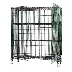 MAXEL Mobile Poly Brite 3 Tier Rack With Side, Back Panels & Doors SEC2148EZ