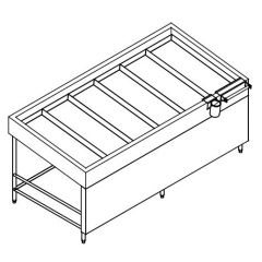 SS FRUIT DISPLAY INSULATED ICE BED COUNTER