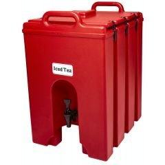 CAMBRO 10 Gallon Insulated Camtainer Beverage Dispenser 1000LCD (Hot Red)