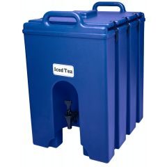 CAMBRO 10 Gallon Insulated Camtainer Beverage Dispenser 1000LCD (Navy Blue)