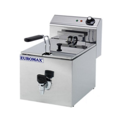 EUROMAX Fryer Single 8L with Tap 10360K