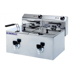 EUROMAX Fryer Double 10+10L with Tap 10390K