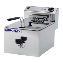 EUROMAX Fryer Single Fryer 10L with Tap 10380K