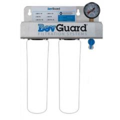 BEVGUARD Dual Head with Pressure Relief/ Flush Valve and Pressure Gauge 105126