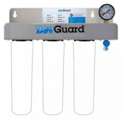 BEVGUARD Triple Head with Pressure Relief/Flush Valve and Pressure Gauge 105128