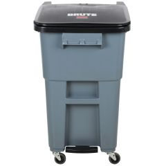 Brute® Step-On Rollout with Casters (Gray)  50Gal/189L 1971962, 65Gal/246L 1971974