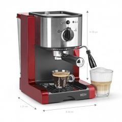 BEEM Espresso-Machine Espresso Perfect 15 bar Red 2051