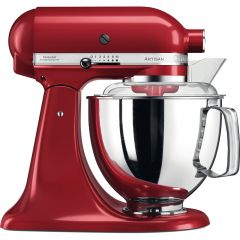 KITCHENAID 4.8L Artisan Tilt Head Stand Mixer with Twin Bowls (Candy Apple Red) 5KSM175PSBCA