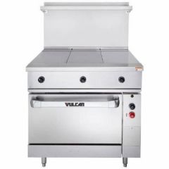 VULCAN Endurance Series Electric Range with 3 Hot Tops and Oven EV36S-3HT480