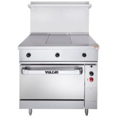 "VULCAN Endurance Series 36"" Electric Range with 3 Hot Tops and Oven Base EV36S3HT240"