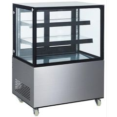 AR 2 Tier Rectangular Floor Standing Cake Display AR3ftSQSSCS