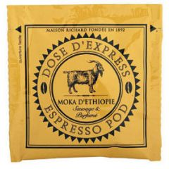 Cafes Richard Espresso Pods ETHIOPIAN MOKA (Box of 25 pods)