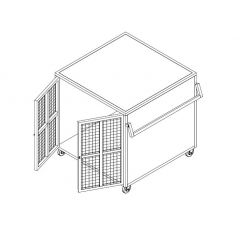 Stainless Steel Cage Trolley with Lock