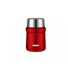 ENDO 450ML Double S/Steel Food Jar CX-4007 (Crimson Red)