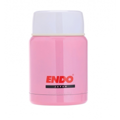 ENDO 350ML Double S/Steel Food Jar CX-4001 (Milk Pink)
