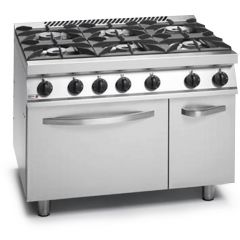FAGOR Gas Range 6 Open Burner with Oven CG7-61 H