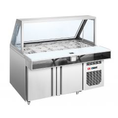 CN Salad Display Counter With Flip Up Glass Frame - 4FT CN-SDC-1D.4