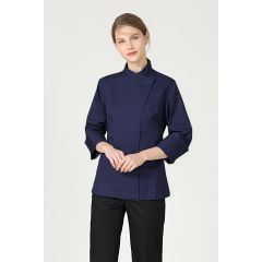 GREENCHEF Rosemary Navy Blue Chef Jacket (Long Sleeve) CNBL8060PC