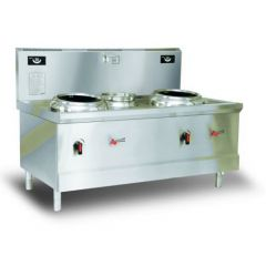 ECO KITCHEN Commercial Induction Chinese wok Station (Double) ND-A0W-L16*2DL