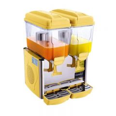 COROLLA 2 Tank Juice Dispenser With Unbreakable Polycarbonate Bowl (Yellow) COROLLA-2SY