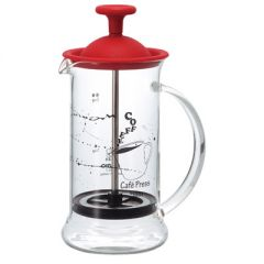 HARIO Cafe Press Slim S / Red (1 - 2 Cups / 240ML) CPSS-2-R