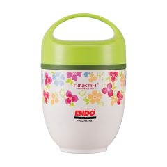 ENDO 650ML Double S/Steel Food Jar CX-4008 (Floral Green)