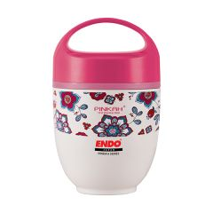ENDO 650ML Double S/Steel Food Jar CX-4008 (Motif Pink)