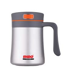 ENDO 400ML Anti-Bac Double Stainless Steel D/Mug-ASSRTD CX-1003 (Matt Silver)