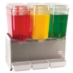 CRATHCO Classic Triple Bowl Refrigerated Beverage Dispenser 3x18.9L D355-4
