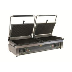 ROLLER GRILL Double Contact Grill with Timer DOUBLE PANINI LISSE