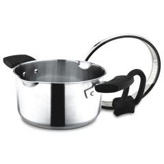 ENDO 20cm Stainless Steel Stock Pot with Pouring Spouts + Colander Cover E-SP20(P)