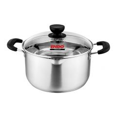 ENDO 24cm Stainless Steel Stock Pot with Pouring Spouts E-SP24(P)