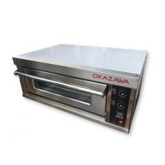 OKAZAWA Industrial Stainless Steel Electric Oven 1 Deck EVL11M