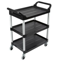 RUBBERMAID Utility Service Cart with Swivel Casters FG342488BLA
