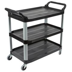 RUBBERMAID X-Tra Utility Cart, Open Sided FG409100BLA