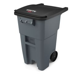 RUBBERMAID Brute® Rollout Container (Gray) 50Gal/189L FG9W2700GRAY, 65Gal/246L FG9W2100GRAY