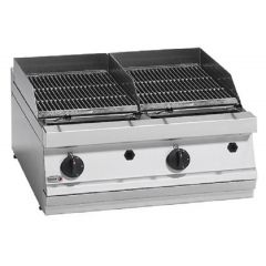 FAGOR Gas Countertop Carcoal Griller with Two Grids BG7-10