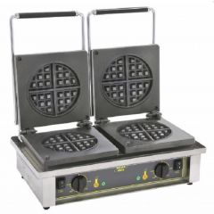 ROLLER GRILL Double Round Waffle Baker GED-75