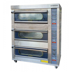 ORIMAS Industrial Stainless Steel Gas Oven 3 Deck GR-6M