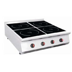 ECO KITCHEN Commercial Induction Quadruple (4) Burners Range Table Top IND-E0P-L3500