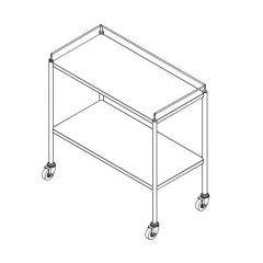Stainless Steel Instrument Trolley / Cart